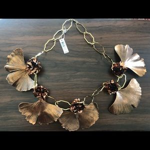 Tory burch gingco leaf necklace